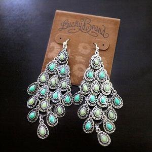 Lucky brand turquoise chandelier drop earrings